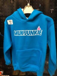 Muk Junkie kids youth hoodies Turquoise/Grey size 5-6 years