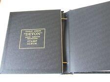 STANLEY GIBBONS BLACK DEVON HI-CAPACITY 2-PEG STAMP ALBUM EXCELLENT CONDITION