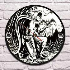 Reloj De Pared Batman Color Vinyl Record De Diseño Hogar Arte Niños Sala De Juegos 1