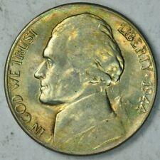 1944-S Jefferson WARTIME Silver Nickel 5c BU Unc MS