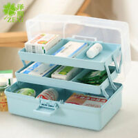 3 Layer Portable Storage Box Organizer Medicine Chest Portable Toolbox