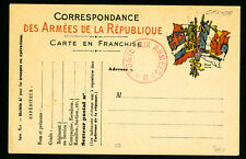 France Revolutionary Army Cancelled Stamp Card