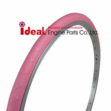 Pair Bike Tire Pink 700X35C 700C Tubeless Puncture Free Protection No Flat Air