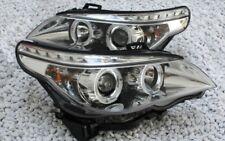 KLARGLAS CHROM SCHEINWERFER BMW E60 5er 2003-2007 ANGEL EYES STANDLICHTRING LENS
