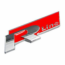 R Line Car Van Emblem Chrome Metal 3D Silver Badge Self Adhesive Free P&P