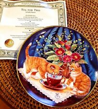 New Tea For Two By Kathy Duncan Franklin Mint Limited Edition Porcelian Plate