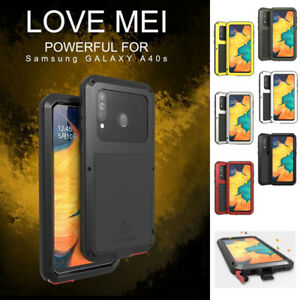LOVE MEI Waterproof Gorilla Glass Metal Case Cover For Samsung Galaxy A40S A3050