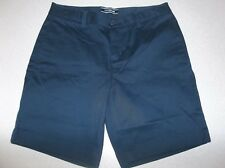 Lands' End Girls Stain Resistant Chino Shorts Size 12 Navy School Uniform Lu136