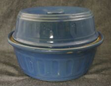 MONMOUTH Western Stoneware Periwinkle Blue TALL COVERED CASSEROLE DISH