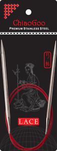 24in (60cm) long Chiaogoo Red Lace Fixed Circular