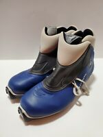 Salomon E4 Cross Country Ski Boots Blue XC Size US 14-14.5 EUR 47 ~i1