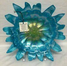 "Blue Flower Floral Decorative Bowl Platter Plate AKCAM Turkey Luster 12"" New"