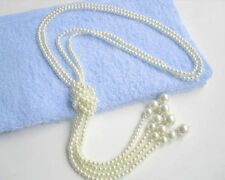 6MM Fashion multilayer charms shell pearls necklaces 50""