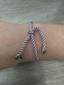 David Yurman adjustable rope bracelet(lavender)