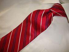 U.S Polo Assn men's 100% silk Red stripe neck tie TIE. 57 X 3. 1/2