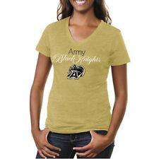 Large Black Old Varsity Brand NCAA Army Black Knights Ladies Tri-Blend V-Neck T-Shirt