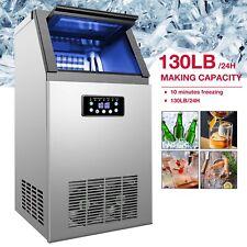 Commercial Ice Maker Machine For Restaurant Bar 36 Ice Cube 130lb/24Hr
