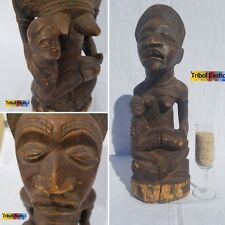 AUTHENTIC Kongo Bakongo Maternal Statue Figure Sculpture Mask Fine African Art