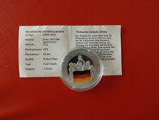 *Cook Island 1 Dollar 2001 Silber PP(500 -ca20g)*Fußball WM/Deutschlan (Schub69)
