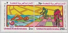 UAE UNITED ARAB EMIRATES 1988 259-60 274a Olympics Seoul Cycling Swimming MNH