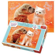 Trefl 100 Piece Sweet & Lovely Girls Cute Puppy Dog Cat Play Fun Jigsaw Puzzle