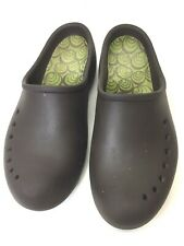 CROCS -Brown Loafers Slip On Clogs - Women's Size 9 No Strap - Breathable Holes