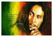 Bob Marley Flag Music Poster Canvas Picture Art Print A0 A1 A2 A3 A4