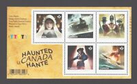 GHOSTS = HAUNTED CANADA = Souvenir Sheet of 5 stamps MNH-VF Canada 2014 #2748