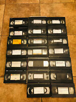 Lot 20 VHS Tapes PreRecorded MOVIE TV Content Sold As Used Blanks B