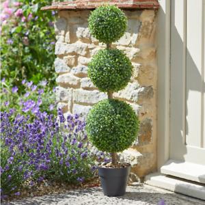 80cm Trio Topiary Artificial Tree in Pot Outdoor Indoor UV Protected