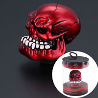 Universal Manual Operate Truck Car Gear Shift Knob Shifter Lever Resin Red Skull