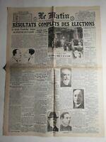 N467 La Une Du Journal Le Matin 22 août 1940 dommages de guerre