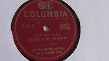 Hurtado Brothers -  78rpm single 10-inch - Columbia #36357 Melodia De Arrabal