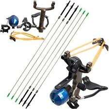 IRQ Archery Fishing Reel Slingshot Slingbow Hunting Catapult Carbon Arrows Wrist