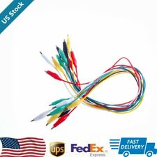 New Listing10pcs Double Ended Crocodile Alligator Clips Test Leads Jumper Cable Wire Uz Us