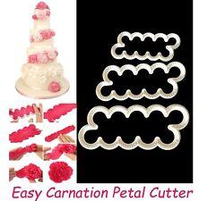 Easy Carnation Flower Petal Fondant Cutter (x3) Mould Sugarcraft Decorating