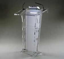 Acrylic/Podium/Lectern/Pulpit/Plexiglass/Lucite/clear with white front board