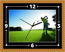 Golf Swing Wall Clock Gift PGA Present Christmas Birthday (Can Be Personalised)