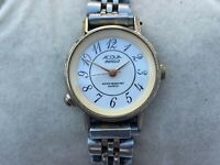 Acqua Indiglo Wristwatch Silver Tone Analog Ladies Watch Water Resistant Quartz