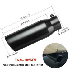 76.2-102mm Car Black Stainless Steel Exhaust Pipe Muffler Tip Tail Throat Part