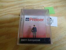 H0 Preiser 28011 Bahnpolizist. Figure. emballage D'origine