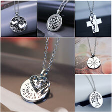 Fashion Family Members Proverbs Love Letter Necklace Simple Pendant Lover Gift