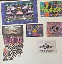 Vintage RAVE Flyers COME UNITY, LABYRINTH, SPUNDAE WICKED (LOT 184)