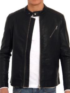 Only & Sons jacket ex asos stock Soren Biker Style In Black size medium  bnwt