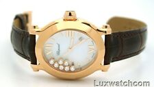 CHOPARD HAPPY SPORT OVAL 7 DIAMONDS 18K ROSE GOLD 275350-5001 LADIES WRISTWATCH