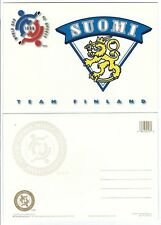 1996 World Cup of Hockey Tournament Postcard - FINLAND Logo WHITE