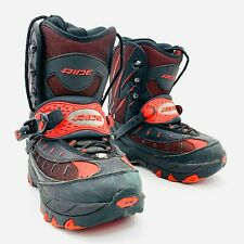 Ride Step-In Black Red Snowboard Boots Mens Size 10