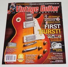 Kiss ACE FREHLEY Vintage Guitar Magazine 2016 1958 Gibson Les Paul Nancy Wilson