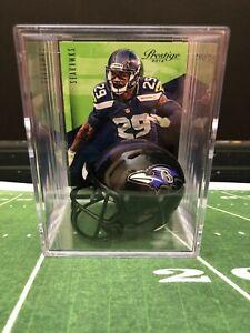 Baltimore Ravens Mini Revolution Helmet Shadowbox w/ Earl Thomas card