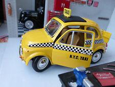LGB G scala 1:24 FIAT 500 modello Giallo Taxi NYC USA auto dettagliato Burago